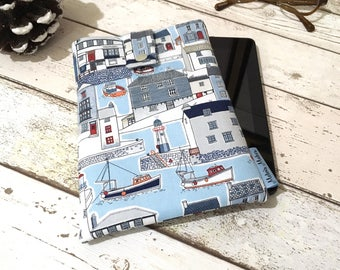 Harbour Side Kindle Case, Kindle Fire 7 8 10 Oasis, Paperwhite, Voyage Cover. Padded Tablet Sleeve, eReader eBook Pouch, Travel Book Gift