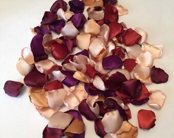Rose Petals/Autumn Wedding Decor/Burgundy Rose Petals/Plum Petals/Gold Rose Petals/Fall Wedding/Burnt Orange Petals/Ivory Petals