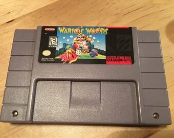 Wario's Woods | SNES | Video Game Cartridge | Super Nintendo System