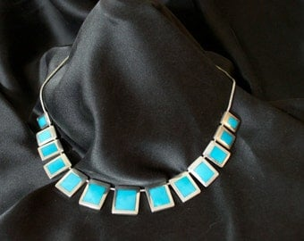 Estate Turquoise and Silver Necklace