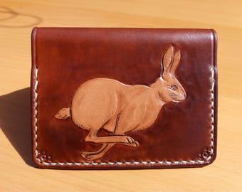 Handmade Leather Bi-fold Wallet - Hare