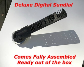 Digital Sundial,camping,time telling,survival,gifts,tool,garden,decoration,gadget,tool,free shipping,Fishing,Art,Time,Cool,Birthday,Gift