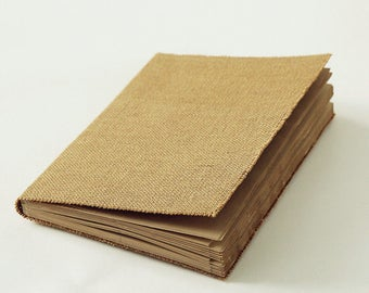 rustic burlap journal, burlap diary, jute book, jute journal, burlap book, rustic journal, kraft sketchbook, kraft sketch book