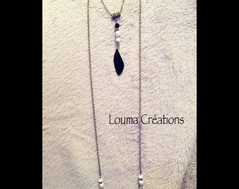 Long necklace doubles grey