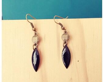 Earrings metal color tans