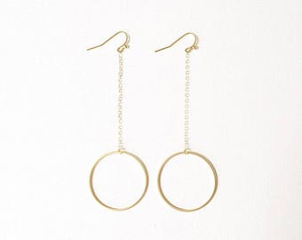 The Mimi Drop Earrings, dangle circle earrings