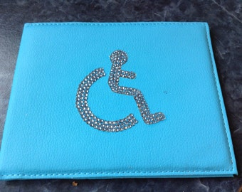 Decorated blue disabled badge
