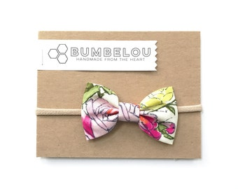 Classic Fabric Bow - Favorite Floral - Headband or Clip