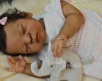 Custom Vinyl Reborn Hyper Realistic Art Doll ~ Baby girl or boy ~ AA, biracial, ethnic or caucasian