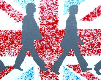 Beatles acrylic painting - Beatles art - Beatles pop art - Beatles wall art - Beatles decor - Beatles poster - Beatles Abbey Road