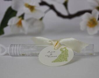 Gastgeschenke zur Hochzeit Seifenblasen/ Wedding give away