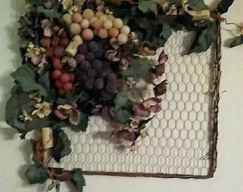 Grape Wall Hanging Italian Decor Wine Decor Kitchen Wall Hanging Kitchen Decor
