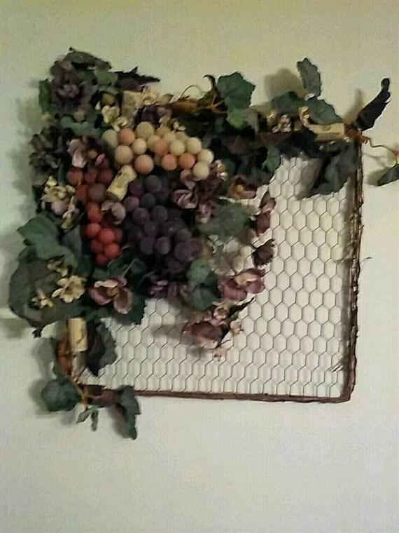 Grape Wall Hanging Italian Decor Wine Decor Kitchen Wall