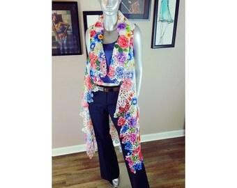 Lace Floral Print SHADíA JACKET | Lace Kimono