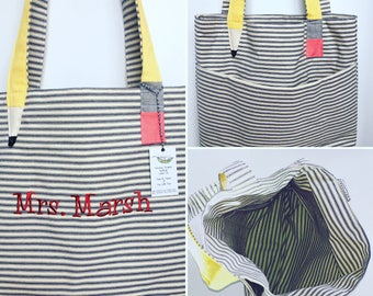 Teacher Tote Bag Personalized, Free Monogram Teacher Gift, End Of School Gift, Teacher bags, Gift for Her, High Quality Tote, Canvas Bag