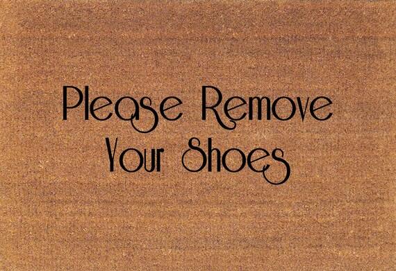 Please remove your shoes door mat coir doormat rug large - Remove shoes doormat ...