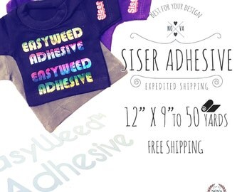"New Siser EasyWeed Adhesive Heat Transfer Vinyl 12"" x 9"" to 50 yards for NRD Foil ** FREE SHIPPING **"