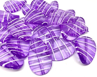 Light PURPLE Beads, oval 36mm Large colorful acrylic beads, bangle or jewelry making, Lavender Lilac beads, purple necklace, purple bracelet