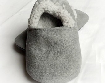 Sherpa Baby Moccs - Baby Shoes - Baby Girl Crib Shoes - Baby Moccs - Baby Boy Infant Shoes - Gender Neutral Baby Sherpa Moccasins