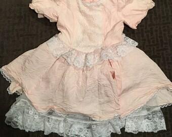 Vintage Gunne Sax Jessica Mclintock Dress Pink Short Grunge 90s