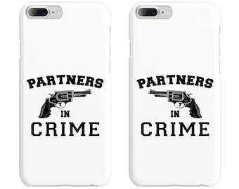 Partners in Crime Couple Phone Case Mate - iPhone, Samsung Galaxy Phone Cases for Couples - Matching Phone Case