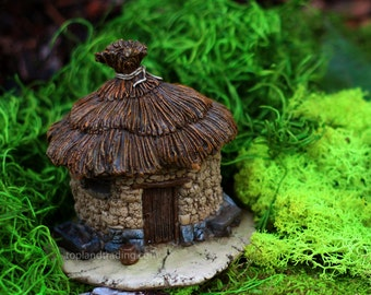 Fairy Garden  - Thatched Roof Fairy House 3 - Miniature