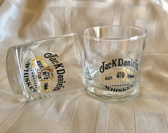 Set of Two Jack Daniel's Tennessee Whiskey No7 Glasses