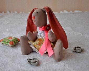 rabbit handmade  bunny tilda girlfriend birthday hare gift