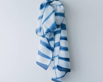 Horizon Indigo Shibori scarf