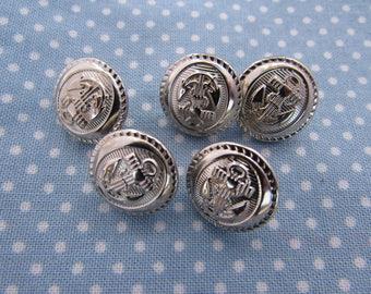 Decorative Anchor Blazer Jacket Buttons