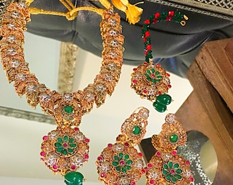Polki set hqjewels Pakistani / Indian Jewelry
