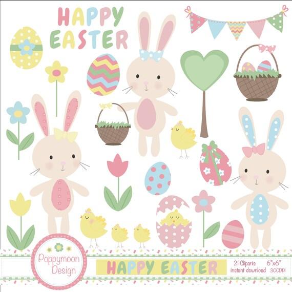 happy easter bunnies flowers-#13