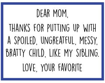 Your Favorite - Mother's Day Card