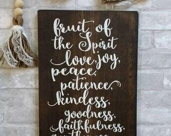 Fruit Of The Spirit,Galatians 5:22 23,Sign,Wood Sign Part 8