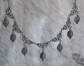 """Necklace """" Silver Leaves """" - elven, pagan, fairy, nature"""
