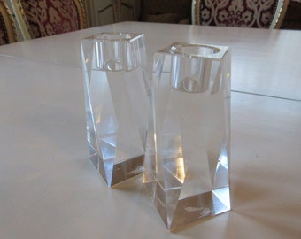 OLEG CASSINI CRYSTAL Candle Holders