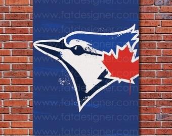 Toronto Blue Jays Graffiti- Art Print - Perfect for Mancave