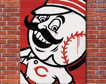 Cincinnati Reds Graffiti- Art Print - Perfect for Mancave