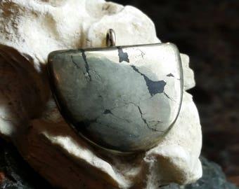 Apache Tears & Karen Hills Tribe Silver Pendant