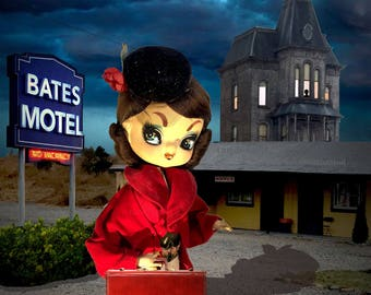 """8X10 Quality Photo Print: """"Checking In?""""  Beautiful Girl Arrives at the Bates Motel (background features the real set from the series)!"""