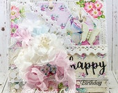 Shabby Chic Happy Birthday Layered Greeting Card