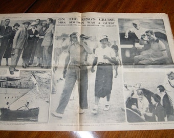 A Collection of Original Newspaper Cuttings/Pages from 1930's