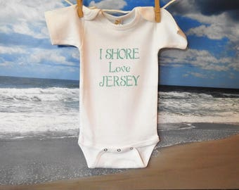 I SHORE Love JERSEY Onesies