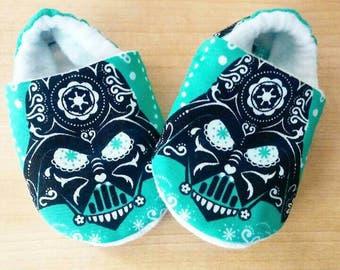 Darth Vader Sugarskull Inspired Baby Shoes Size US 1-7