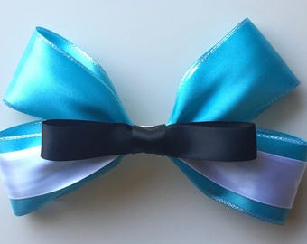 Belle Blue Dress Bow