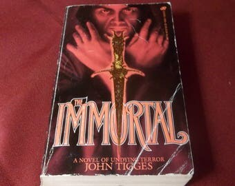 The Immortal JOHN TIGGES  Horror Paperback Book Satanic Cult Leisure Books edition