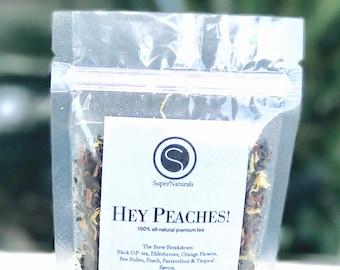 Hey Peaches! - Loose Leaf Tea, Peach Tea, Passion Fruit Tea, Wellness Tea, Elderberry Tea