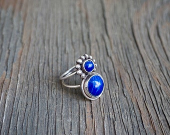 Double Lapis Ring