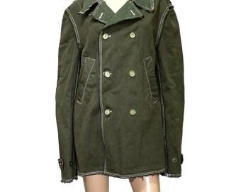Comme des Garcons Shirt Olive Green Denim Jacket