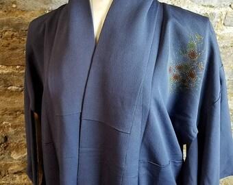 Vintage Kimono, Robe, Dressing Gown, Flower Kimono, Cover up, Lingerie